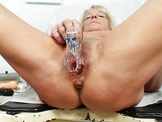 sexy blonde granny wench acquires her unshaved
