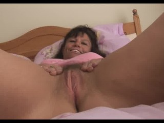 large titties older milf in pink slip shows off
