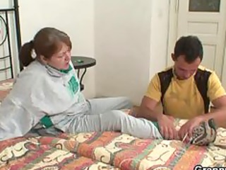 injured grandma acquires healed by young dick