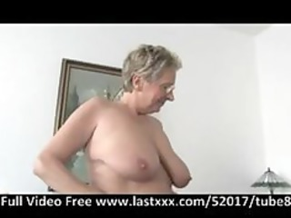 german granny acquires a pound on the sofa