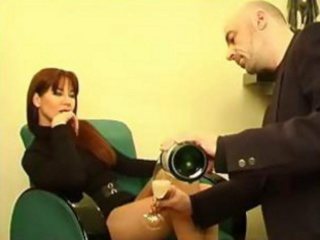 perfect red-haired milf in hot dress gets