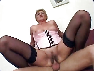 granny acquires fucked and creampie