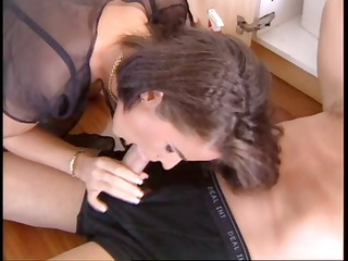 french wife screwed by plumber and spouse