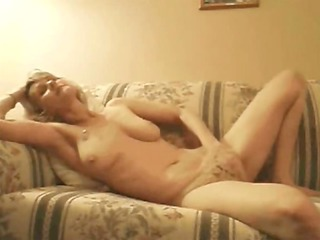 blond mature masturbating