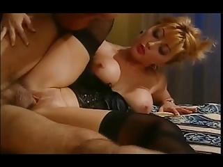 hawt asian wife in satin basque &; nylons
