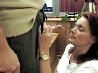 mom priceless blowjob. cum on face