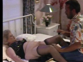 nasty chubby granny receives it on with a much