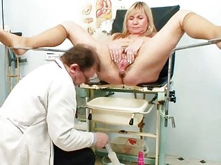 big milk sacks blonde aged shaggy pussy exam