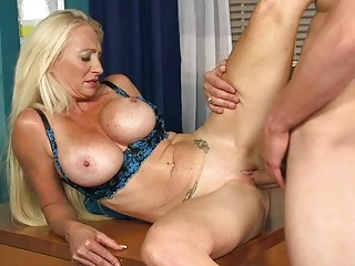 sexy aged lady gives amazign head