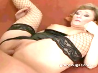 old sweetheart takes dick in her clam and moans