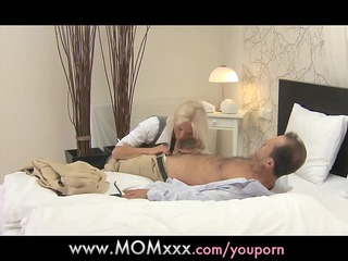 mama golden-haired breasty d like to fuck has