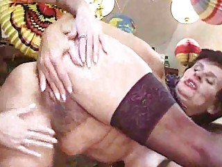 drunk grannies in nylons acquire their hairy