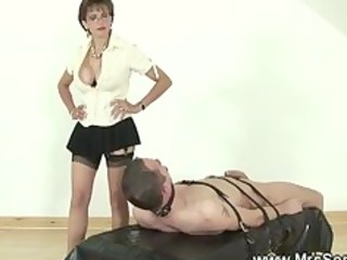 domme jerking off servants hard schlong