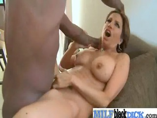 hot hot milfs gets three-some large dark cocks