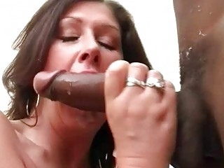 large breasted floozy wife bonks black hunk in