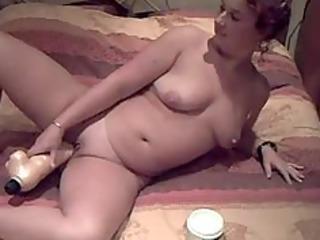 a big vibrator in a petite pussy