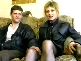 golden-haired aged screwed in nylons