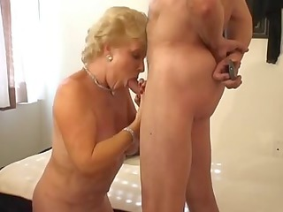 hawt golden-haired granny smokin sex