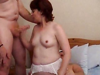 older amateur threesome