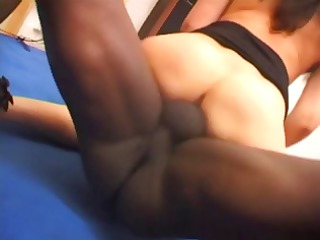 older dark brown milf, selenne, in interracial