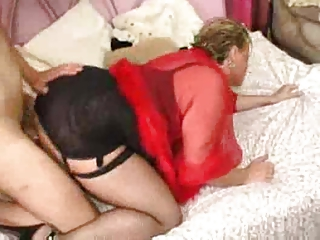 big titted milf in darksome nylons has sex