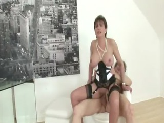 older stocking brit sonia fuck and facial