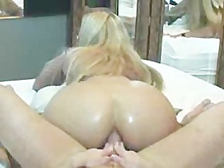 sexy butt riding in front of mirror