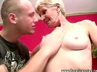 granny takes off false teeth during blowjob