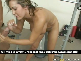 young naked blond playgirl at the gym acquires