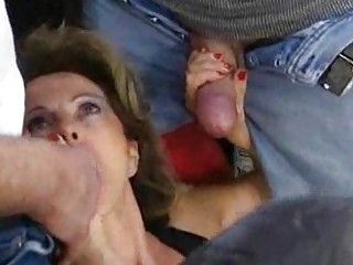german aged housewife receives loads of cum on