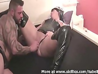 brutally fisting my wifes biggest vagina till she