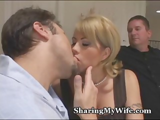 cuckold hubby brings in a new ramrod to see fuck