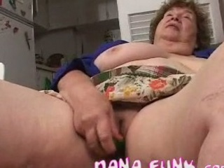 concupiscent gran playing her old pussy with