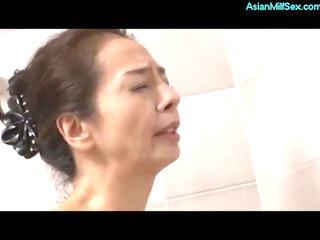 skinny aged woman masturbating in the showr
