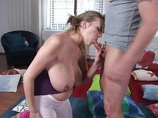 lusty blond mother i hottie gives stunning oral