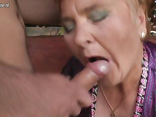 old granny fucks her toy lad