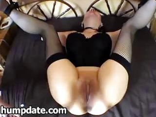 fastened wife gets her ass toyed and screwed
