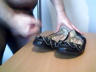spunking on grannys summer shoes
