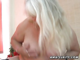 fat dilettante wife sucks and copulates on her