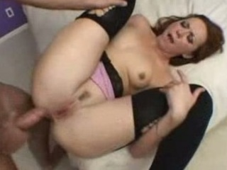red head d like to fuck receives her butt filled