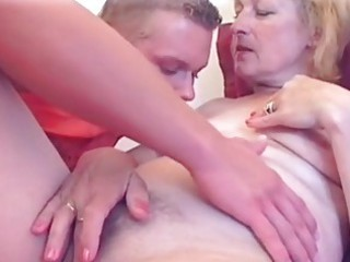 golden-haired milfs hawt pussy licked...