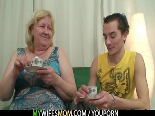 biggest granny is team-fucked by her son in law