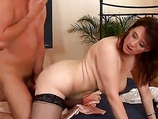 lascivious older sweetheart in nylons drilled