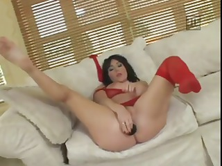 lydia is a breasty brunette who does cocks and a