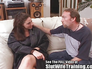 rebecca receives dirty ds floozy wife cum tasting