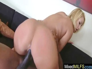 hawt breasty milf ride large darksome pounder