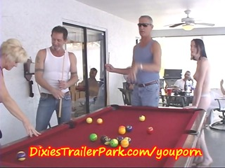 trailer trash pool shooting with d like to fuck