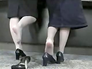 candid shoeplay - 3 hostess dipping heels