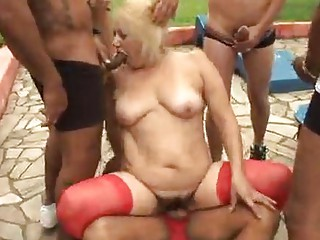mature granny blonde victoria group sex outdoor