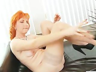 redhead mamma dildos unshaved wet crack